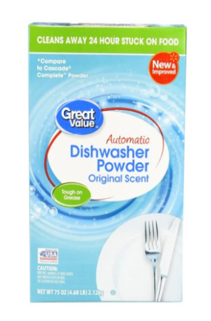Great Value Automatic Dishwasher Powder